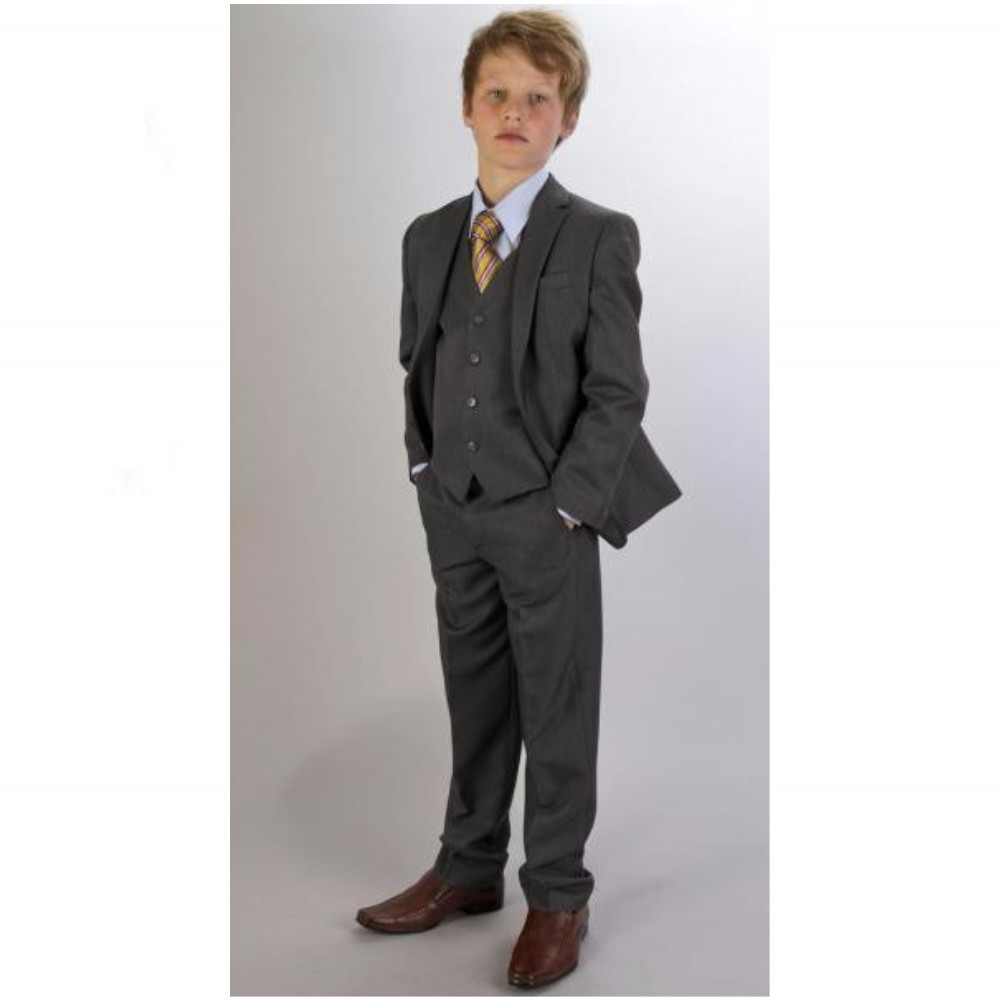 Banquet Slim Fit Three Pieces Boy Suits Notched Lapel Tuxedo With